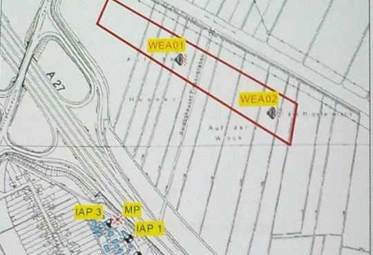 Standorte und Lärmmesspunkte Januar 2012