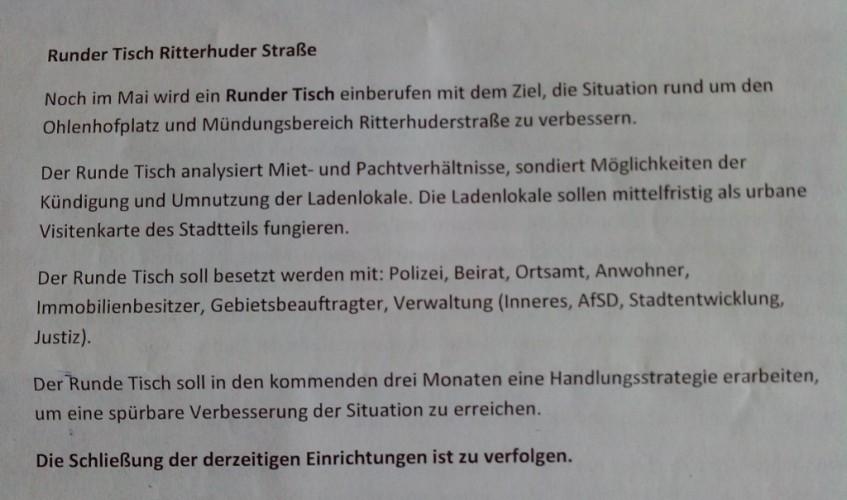 Runder Tisch Ritterhuder Straße 1