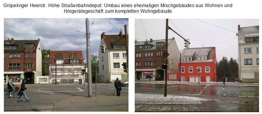 Gröpelinger Heerstraße Höhe Depot