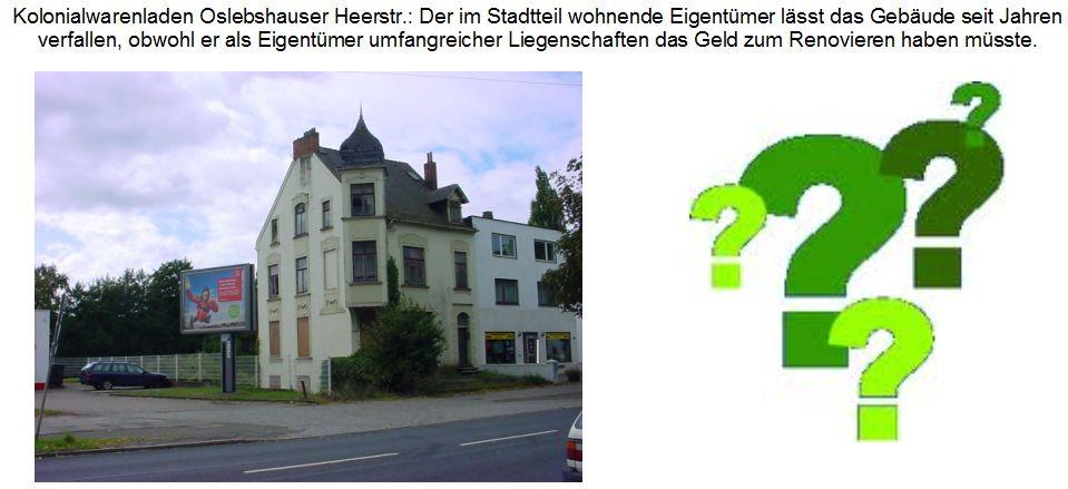 Ehemaliger Kolonialwarenladen Oslebshauser Heerstraße